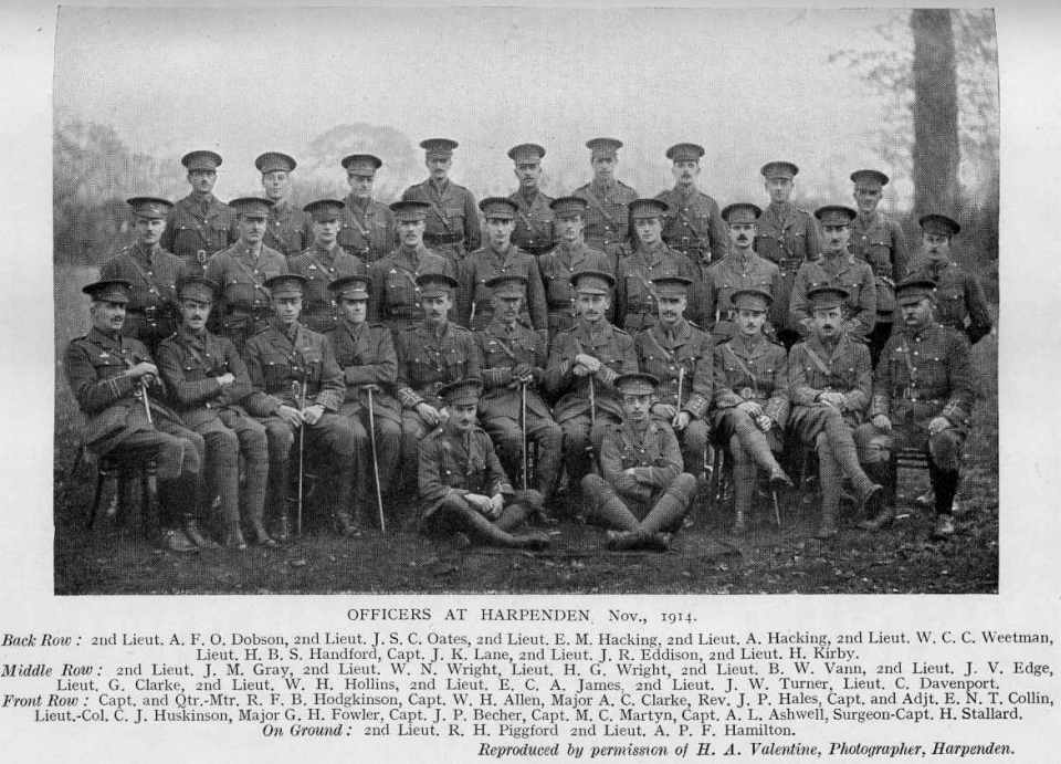 1-8th Battalion Officers