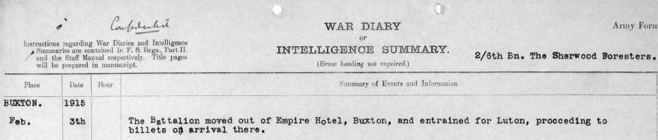 1915 Buxton to Luton