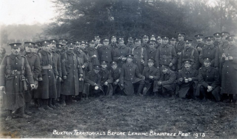 Buxton Territorials Feb 1915