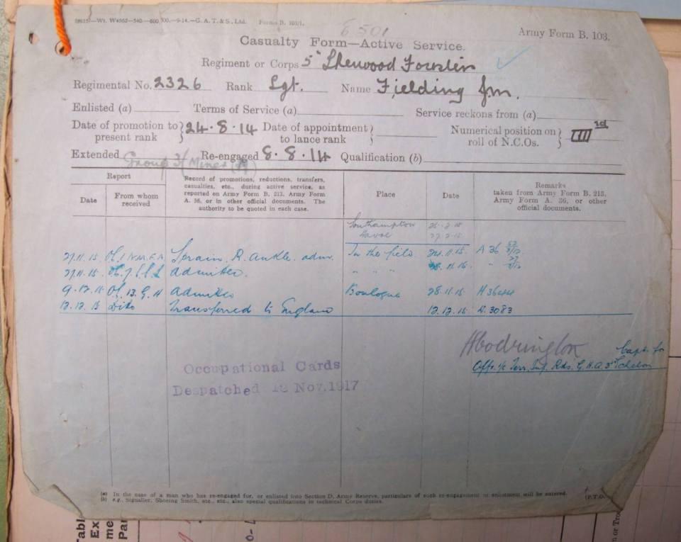 Fielding record