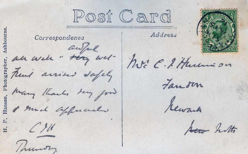 Huskinson PC back 1912