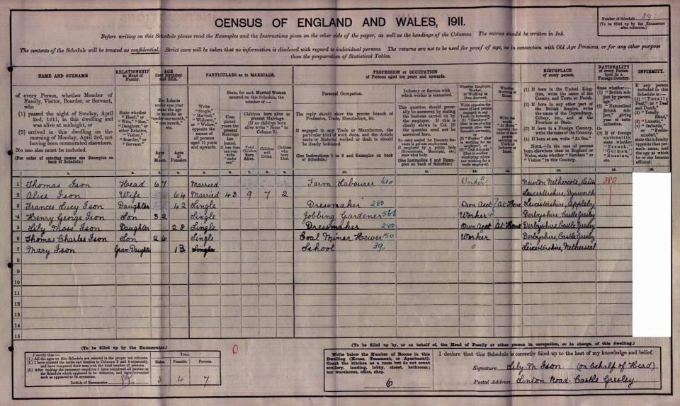 ISON 1911 Census