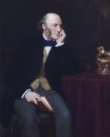 George John Vernon Warren, 5th Baron Vernon (1803-1866) (from a photograph of 1859) by The Hon. John Collier (London 1850 ¿ Hampstead 1934)