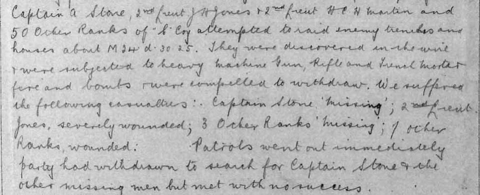 War Diary April 1917