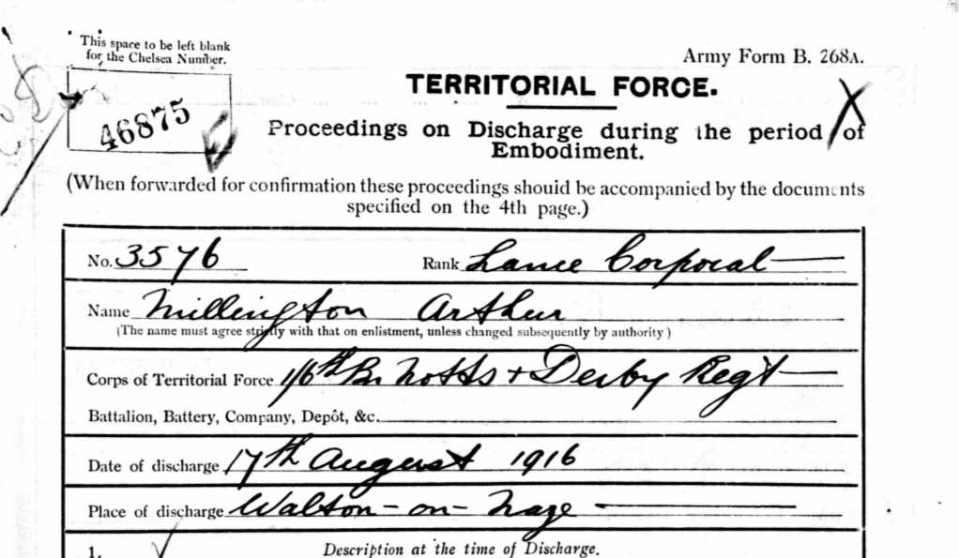 29 Provisional Battalion 1916