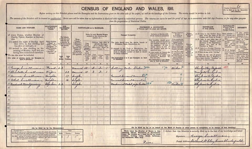 1911 Montgomery Census