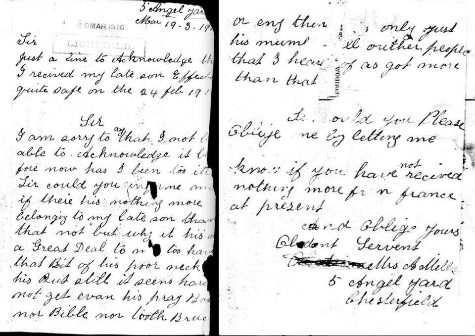 Mrs Mellor letter