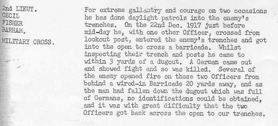 Barham Dec 1917