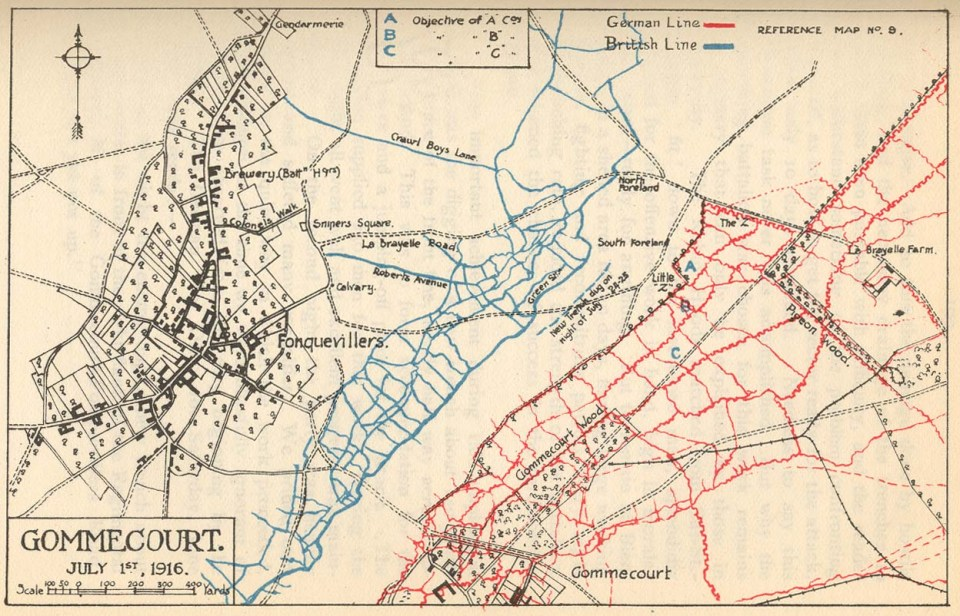 Gommecourt Map 1916