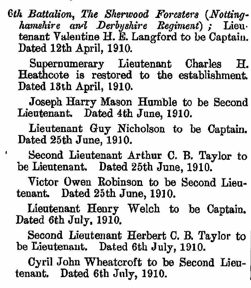 1901 London Gazette