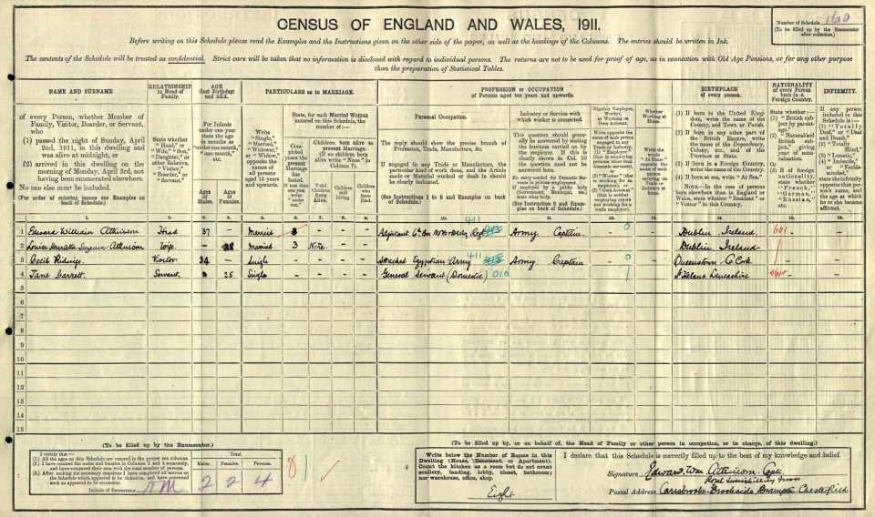 Atkinson census 1911