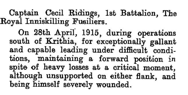 Cecil Ridings LG 1915
