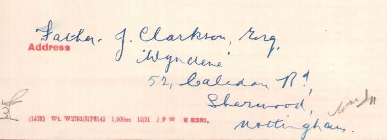 Clarkson adress