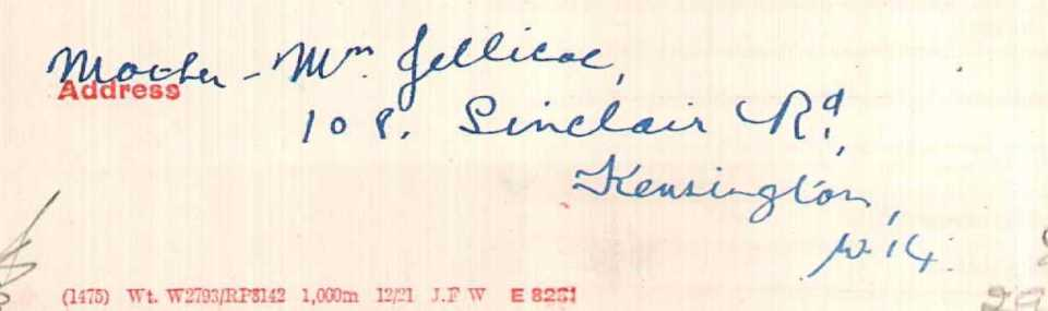 Jellicoe address