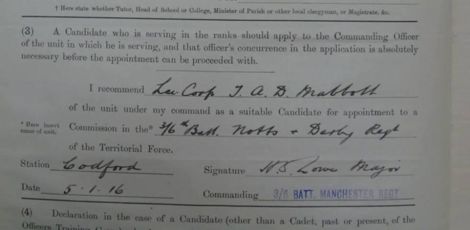 Mabbott commision 1916