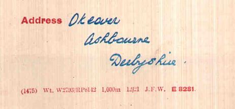 oakover address