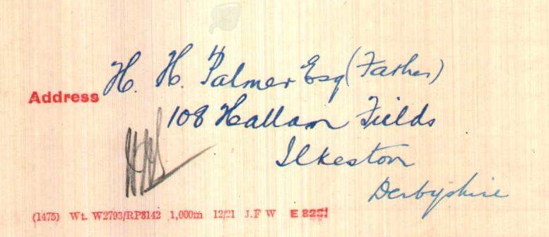 Palmer address