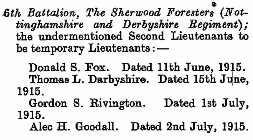 Rivington June 1915