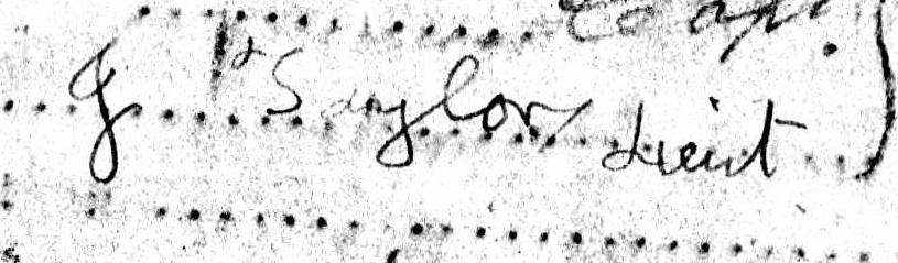Taylor signature