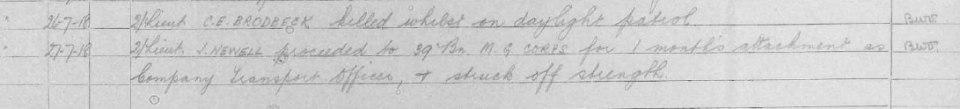 war diary brodbeck