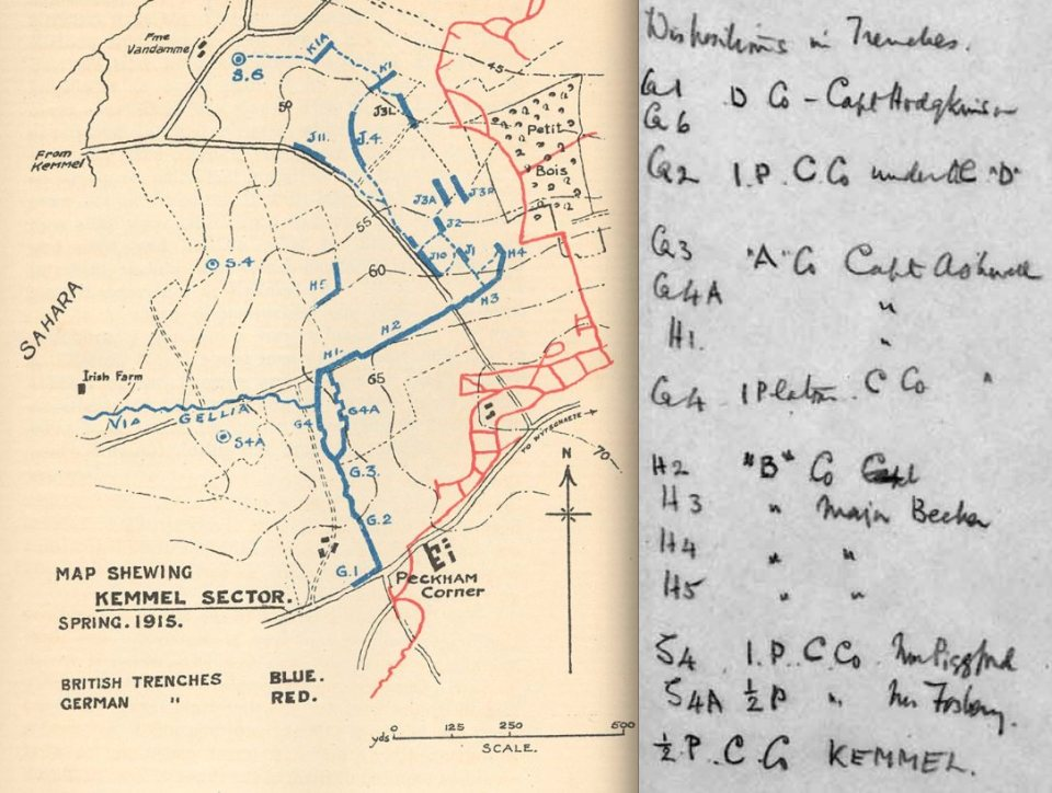 Kemmel trenches 20 April 1915