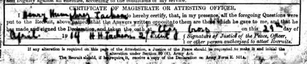 1914 HH Jackson signature