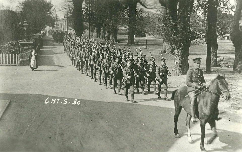 6th North Staffs marching