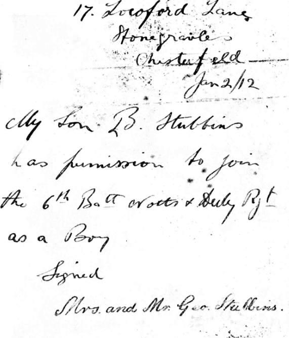 1522 Stubbins letter