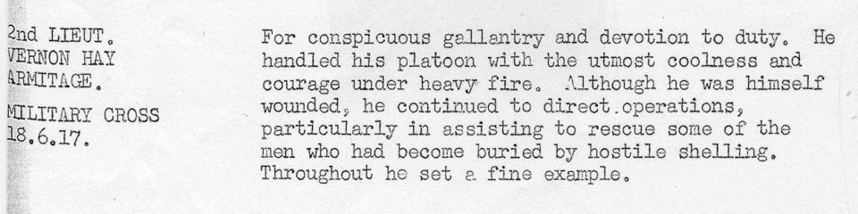 Armitage VH June 1917