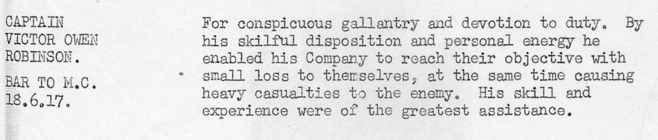 Robinson VO June 1917