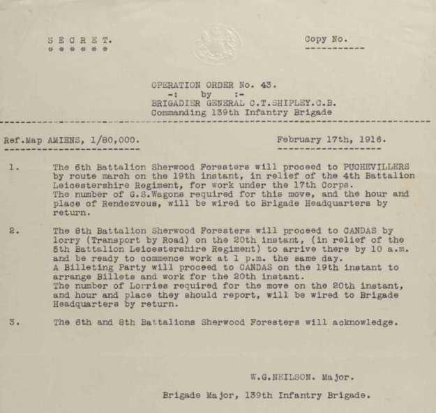 17 Feb 1916 Order 43