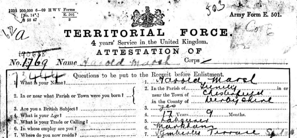 1769 Marsh attestation