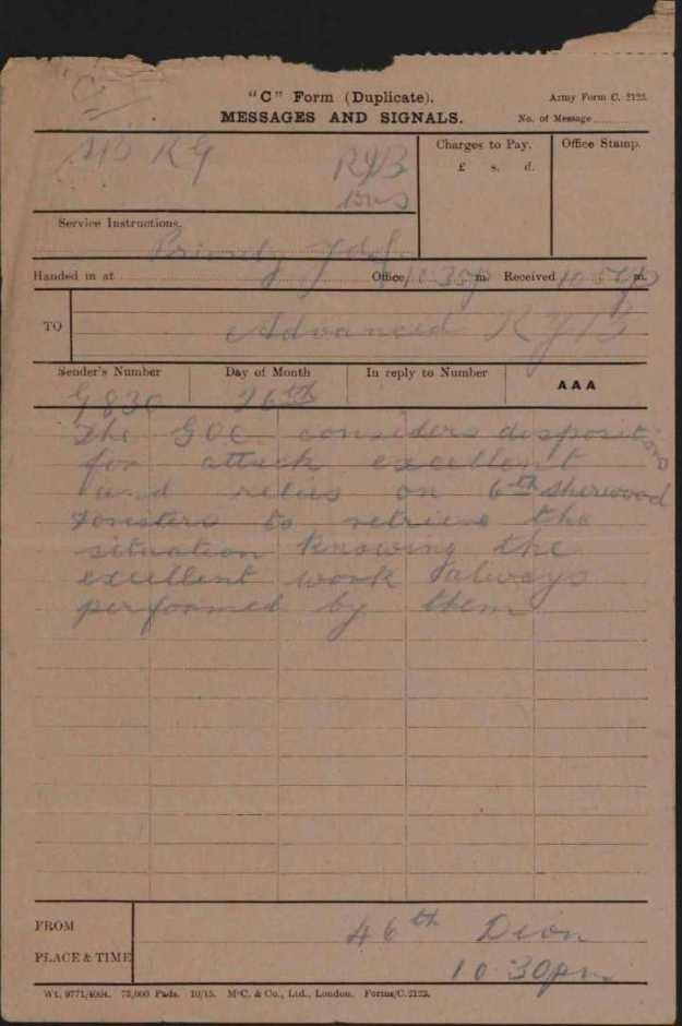 26 March telegram