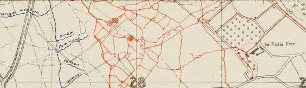 La Folie Farm trenches 1916