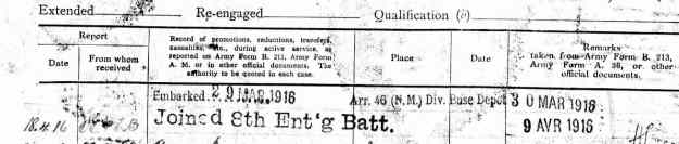 8th entrenching battalion