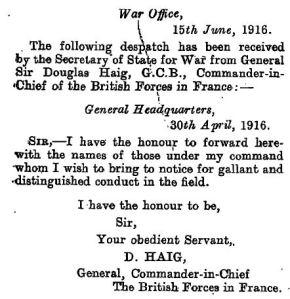 Haig 30 June 1916