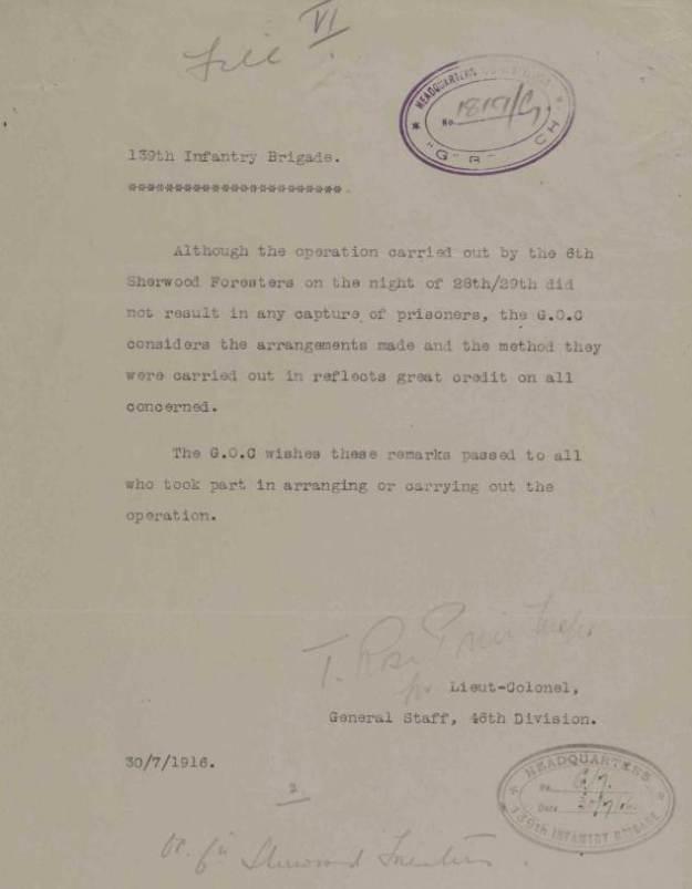 Talus July 1916