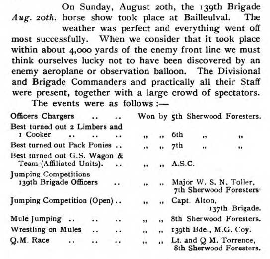 139 Horse Show August 1916