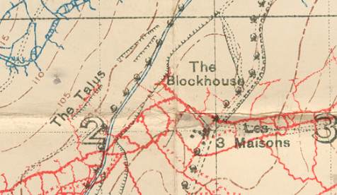 Blockhouse trench map