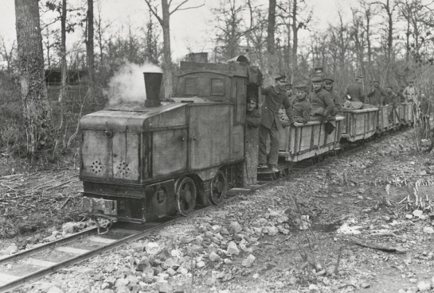 German trench tramway