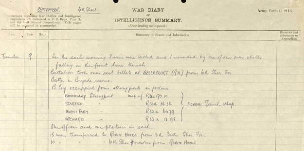 September 1916 Transfers