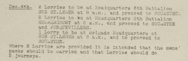 6th December 1916
