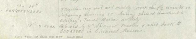 8th battalon december 1916