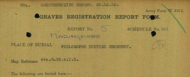 Mazingarbe 1917