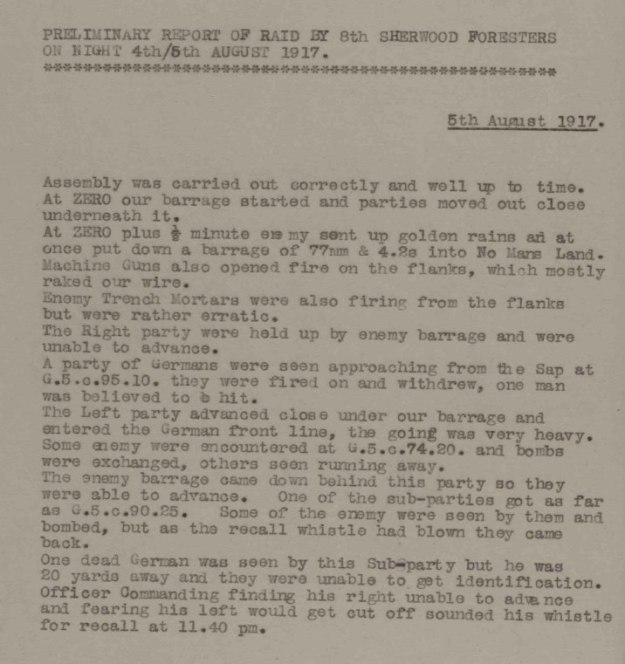 Raid August 1917