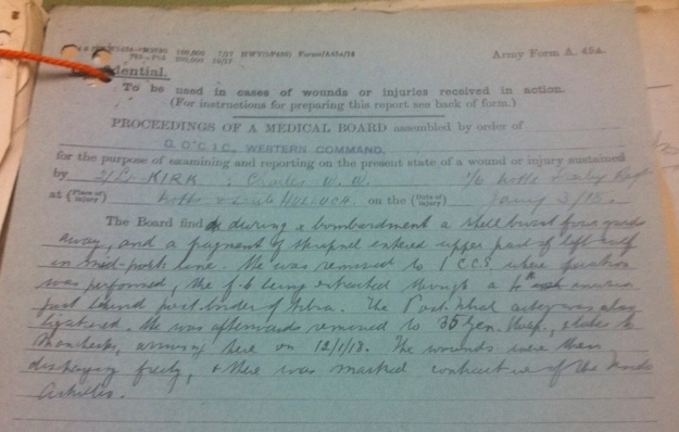 kirk-cw-wounding-jan-1918