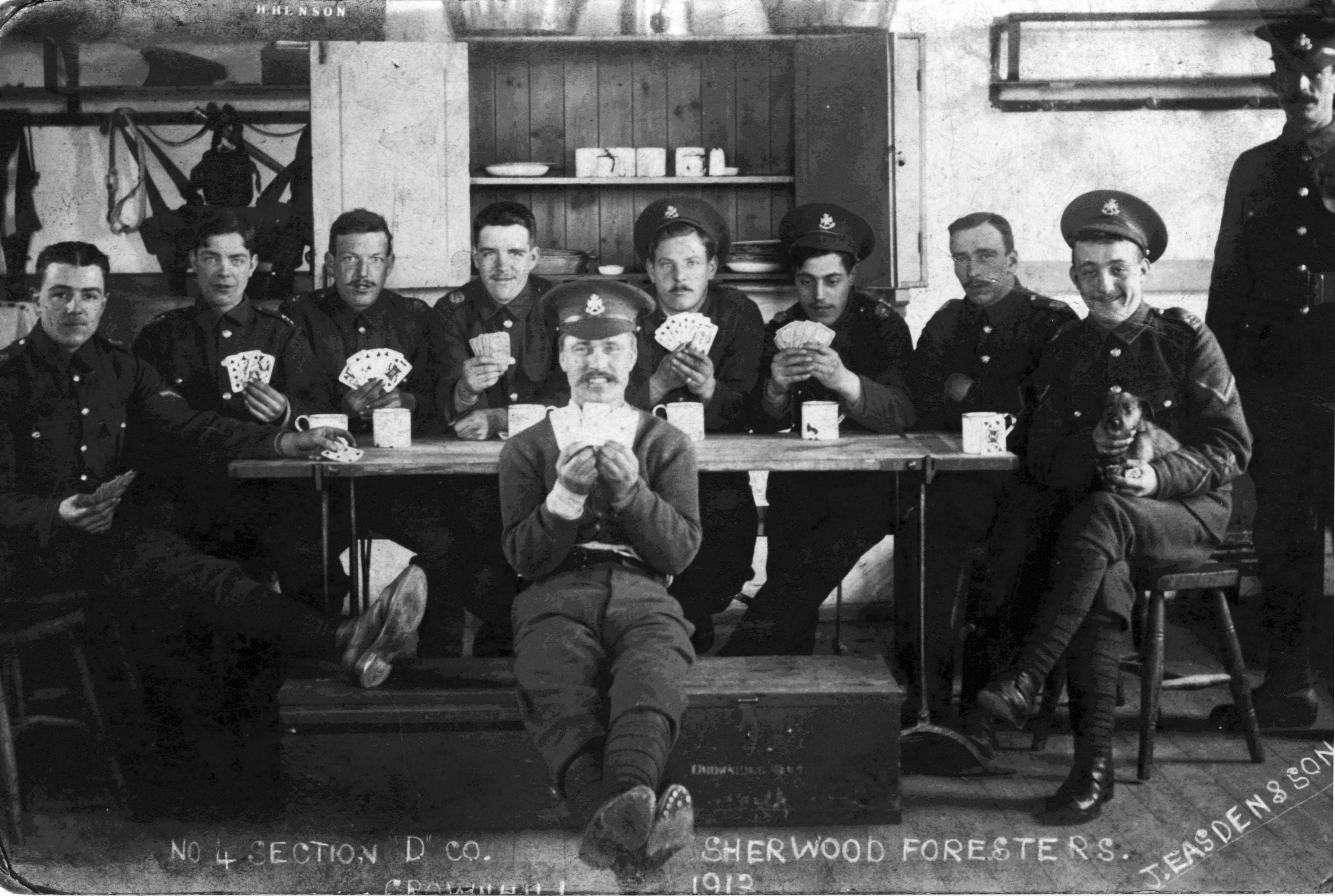 No 4 Section D Coy 1913